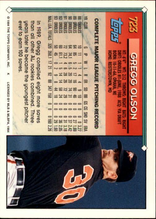 1994-Topps-Beisbol-Tarjeta-Recoger-461-792 miniatura 401