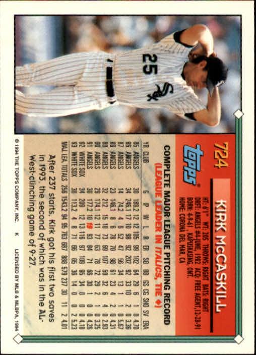 1994-Topps-Beisbol-Tarjeta-Recoger-461-792 miniatura 403