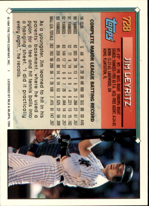 1994-Topps-Beisbol-Tarjeta-Recoger-461-792 miniatura 405