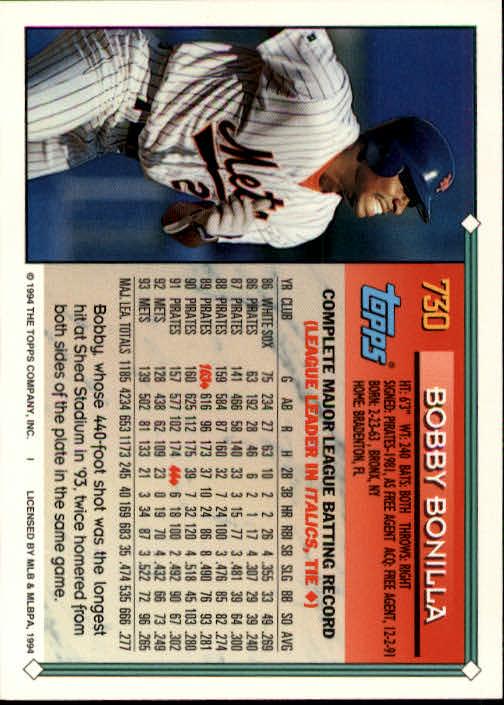 1994-Topps-Beisbol-Tarjeta-Recoger-461-792 miniatura 407