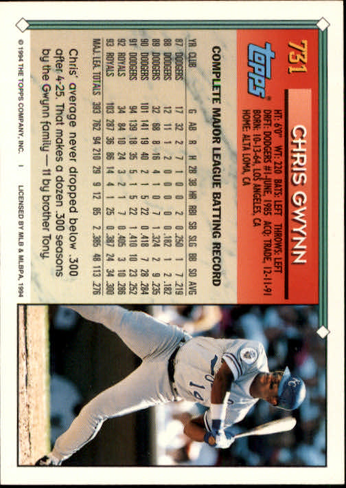 1994-Topps-Beisbol-Tarjeta-Recoger-461-792 miniatura 409