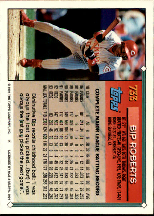 1994-Topps-Beisbol-Tarjeta-Recoger-461-792 miniatura 411