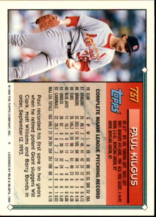 1994-Topps-Beisbol-Tarjeta-Recoger-461-792 miniatura 415