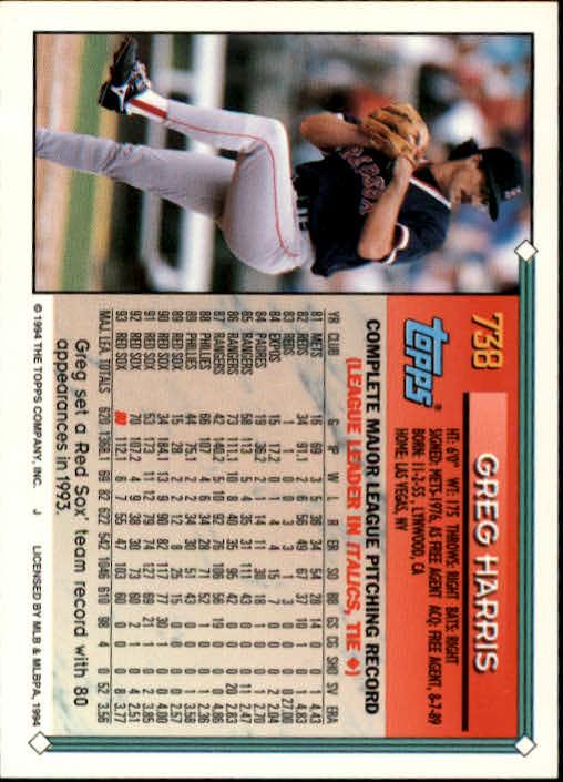 1994-Topps-Beisbol-Tarjeta-Recoger-461-792 miniatura 417