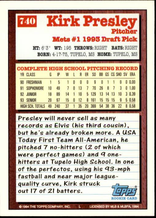 1994-Topps-Beisbol-Tarjeta-Recoger-461-792 miniatura 419