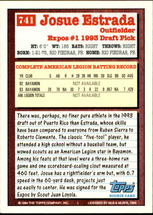 1994-Topps-Beisbol-Tarjeta-Recoger-461-792 miniatura 421