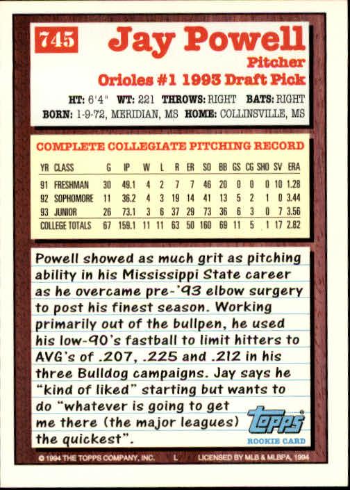 1994-Topps-Beisbol-Tarjeta-Recoger-461-792 miniatura 425