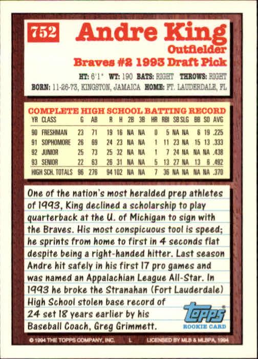 1994-Topps-Beisbol-Tarjeta-Recoger-461-792 miniatura 431