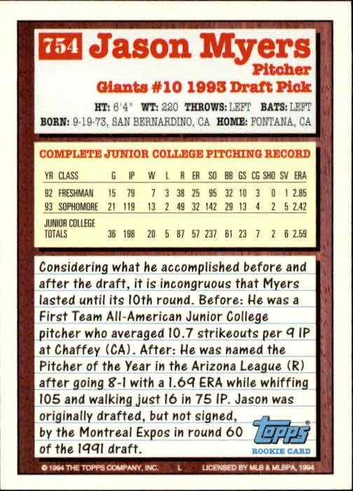 1994-Topps-Beisbol-Tarjeta-Recoger-461-792 miniatura 435
