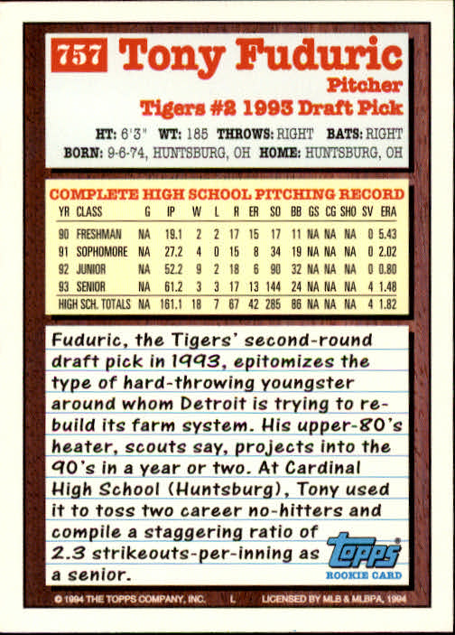 1994-Topps-Beisbol-Tarjeta-Recoger-461-792 miniatura 437