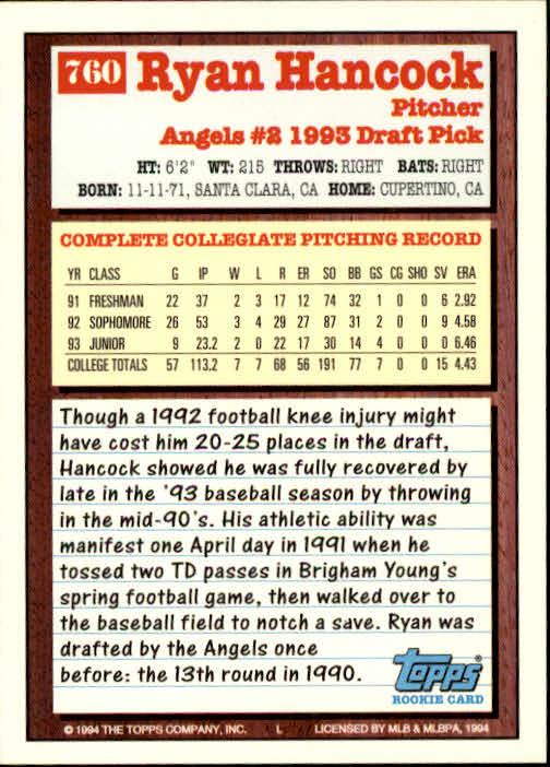 1994-Topps-Beisbol-Tarjeta-Recoger-461-792 miniatura 441