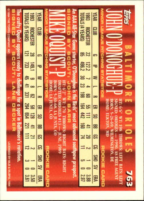 1994-Topps-Beisbol-Tarjeta-Recoger-461-792 miniatura 445