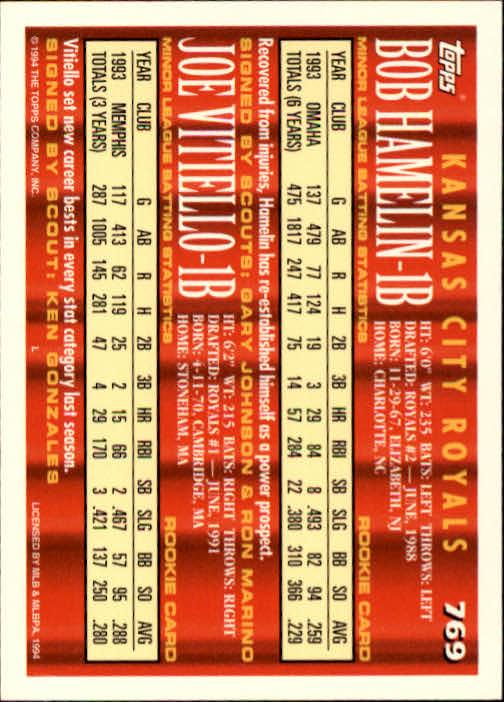 1994-Topps-Beisbol-Tarjeta-Recoger-461-792 miniatura 453