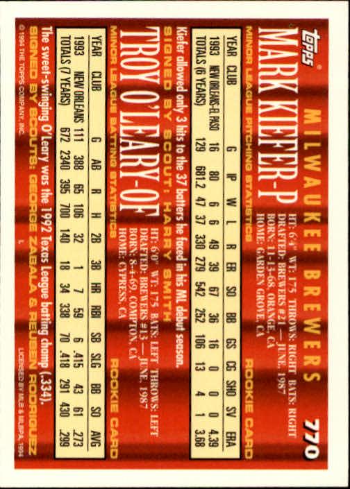 1994-Topps-Beisbol-Tarjeta-Recoger-461-792 miniatura 455