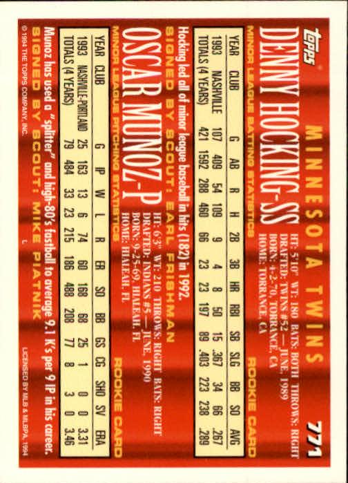 1994-Topps-Beisbol-Tarjeta-Recoger-461-792 miniatura 457