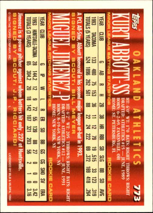 1994-Topps-Beisbol-Tarjeta-Recoger-461-792 miniatura 459