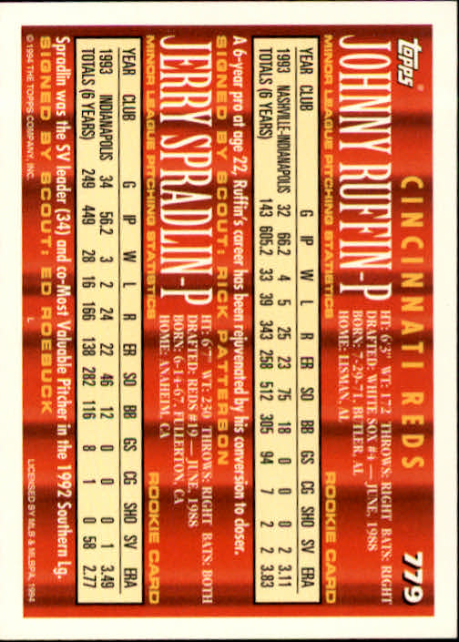 1994-Topps-Beisbol-Tarjeta-Recoger-461-792 miniatura 467