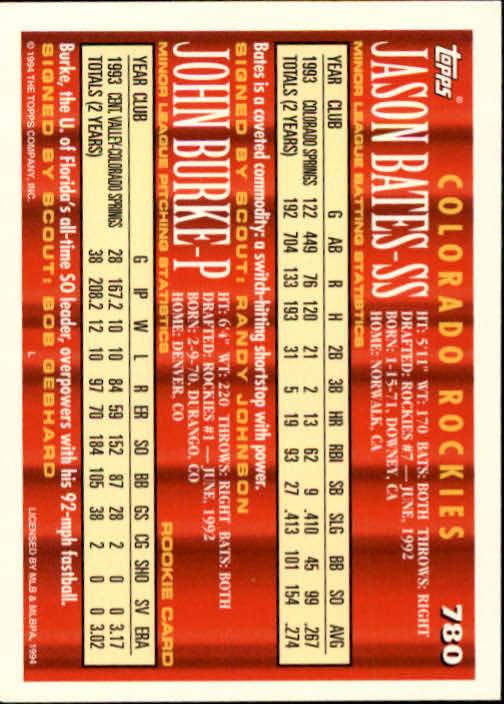 1994-Topps-Beisbol-Tarjeta-Recoger-461-792 miniatura 469
