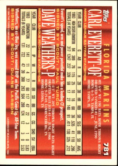 1994-Topps-Beisbol-Tarjeta-Recoger-461-792 miniatura 471