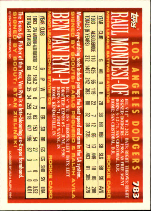 1994-Topps-Beisbol-Tarjeta-Recoger-461-792 miniatura 475
