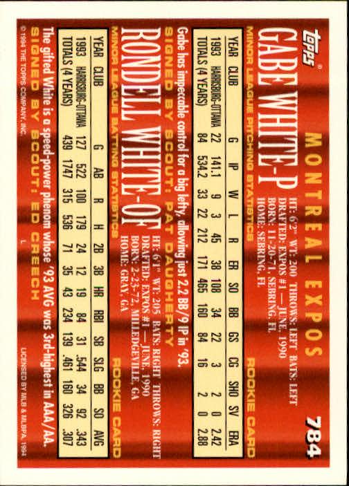 1994-Topps-Beisbol-Tarjeta-Recoger-461-792 miniatura 477