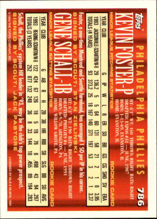 1994-Topps-Beisbol-Tarjeta-Recoger-461-792 miniatura 479