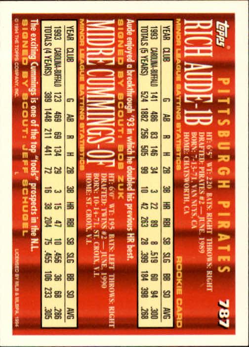 1994-Topps-Beisbol-Tarjeta-Recoger-461-792 miniatura 481