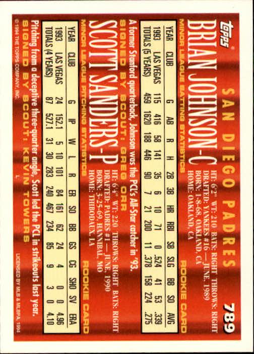 1994-Topps-Beisbol-Tarjeta-Recoger-461-792 miniatura 485