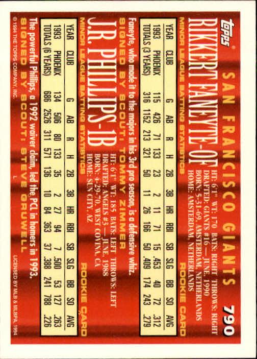 1994-Topps-Beisbol-Tarjeta-Recoger-461-792 miniatura 487