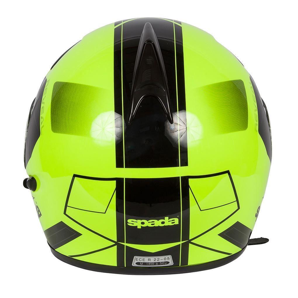Spada-Reveal-Tracker-Casque-Moto-avant-Basculable-Jaune-Fluo-Noir miniature 13
