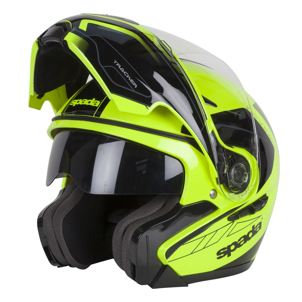 Spada-Reveal-Tracker-Casque-Moto-avant-Basculable-Jaune-Fluo-Noir miniature 11