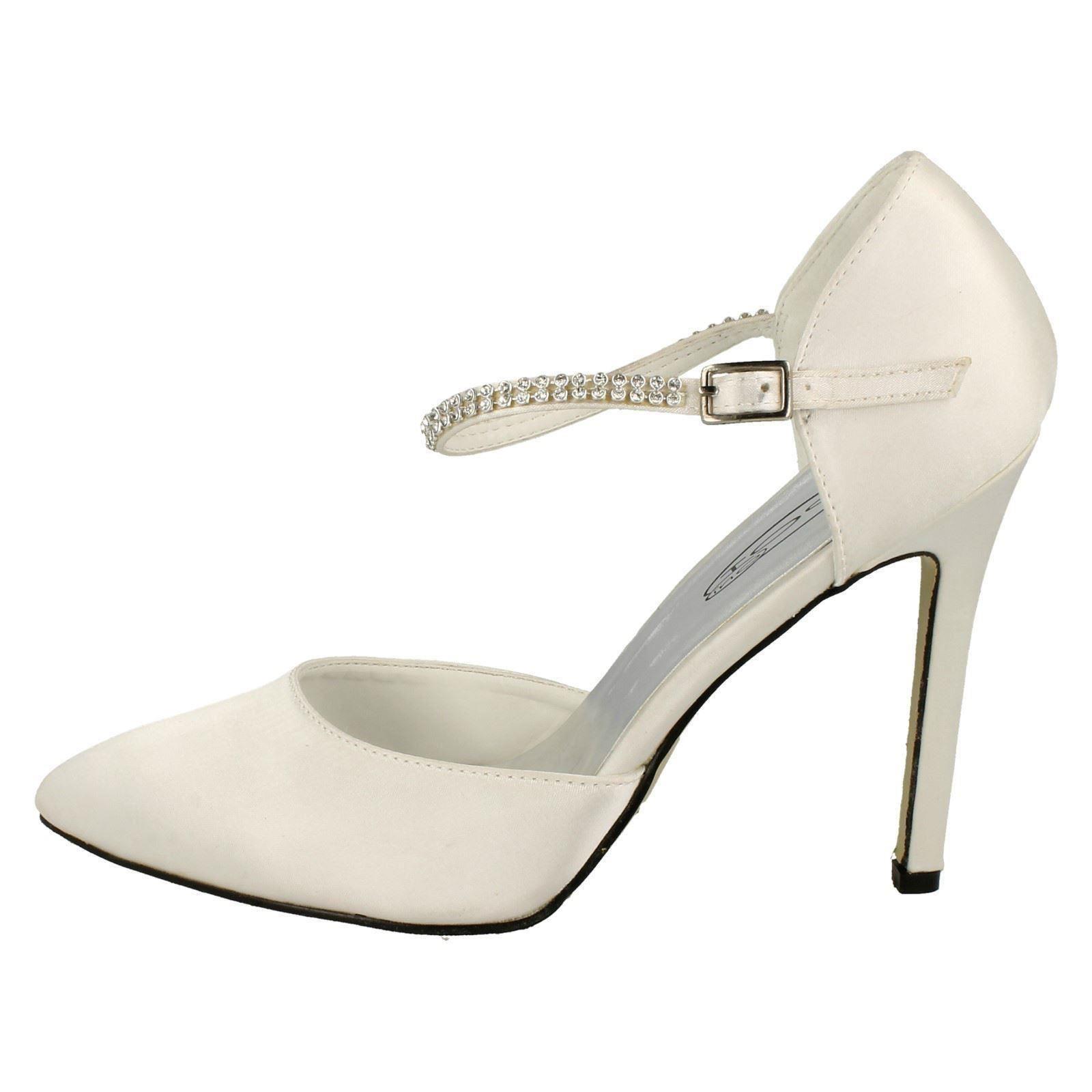 Donna-Anne-Michelle-Scarpe-da-festa-con-strass-039-Cinturino-alla-caviglia-039