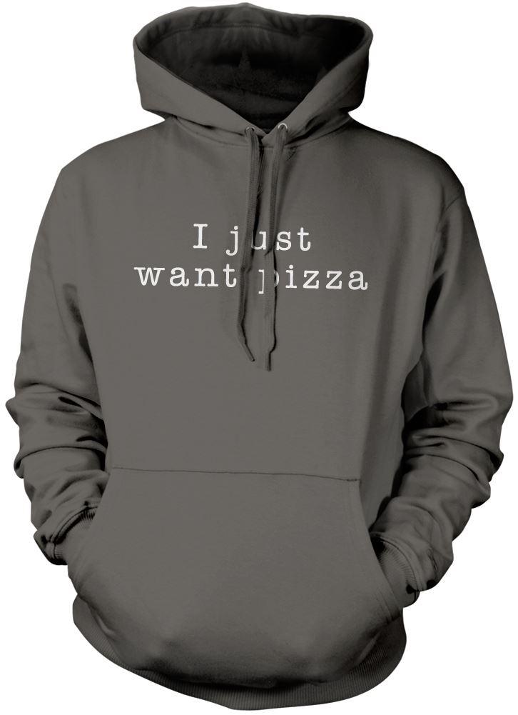 Ho-Appena-Want-Pizza-Regalo-Divertente-Felpa-Unisex-Molti-Colori