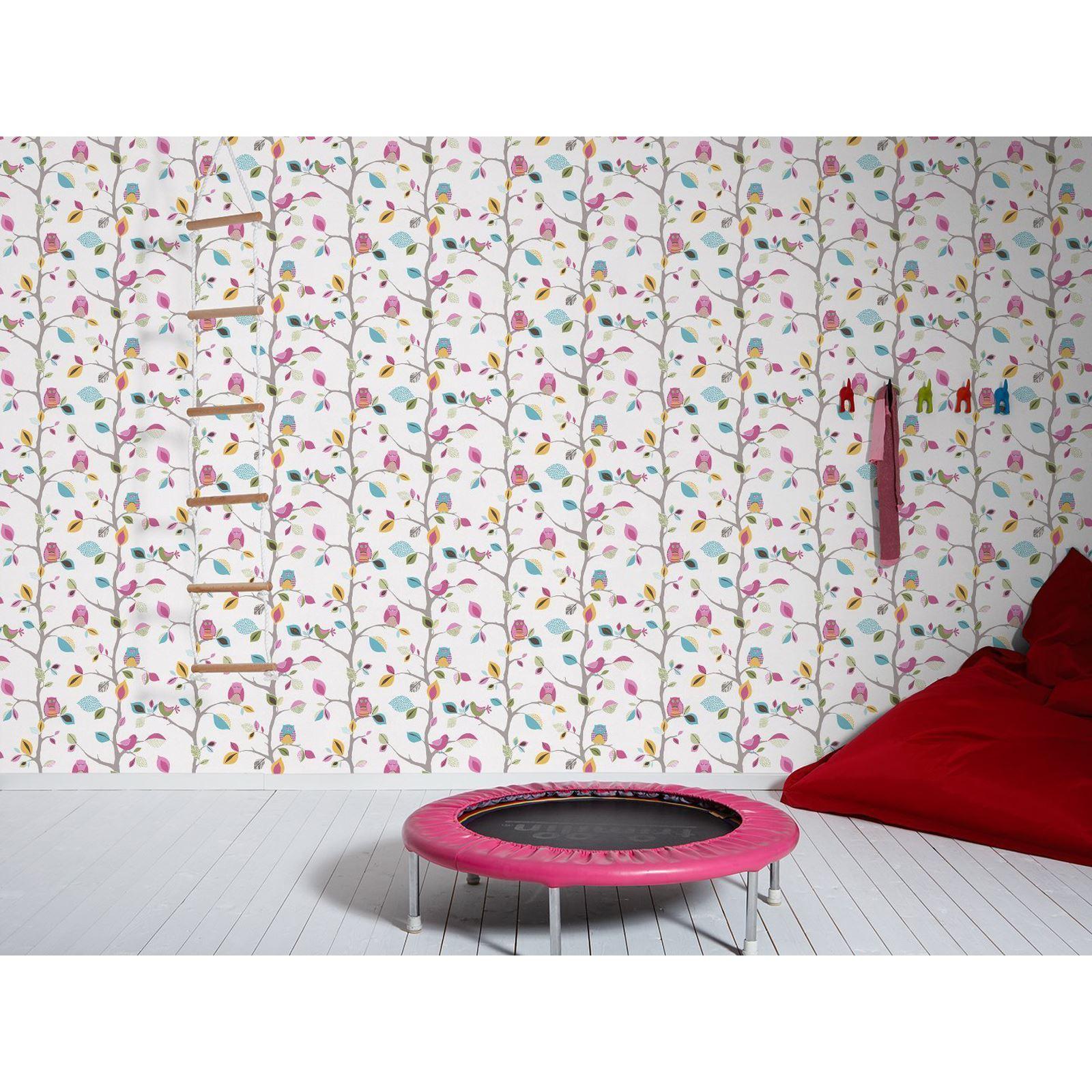 GIRLS CHIC WALLPAPER KIDS BEDROOM FEATURE WALL DECOR VARIOUS DESIGNS