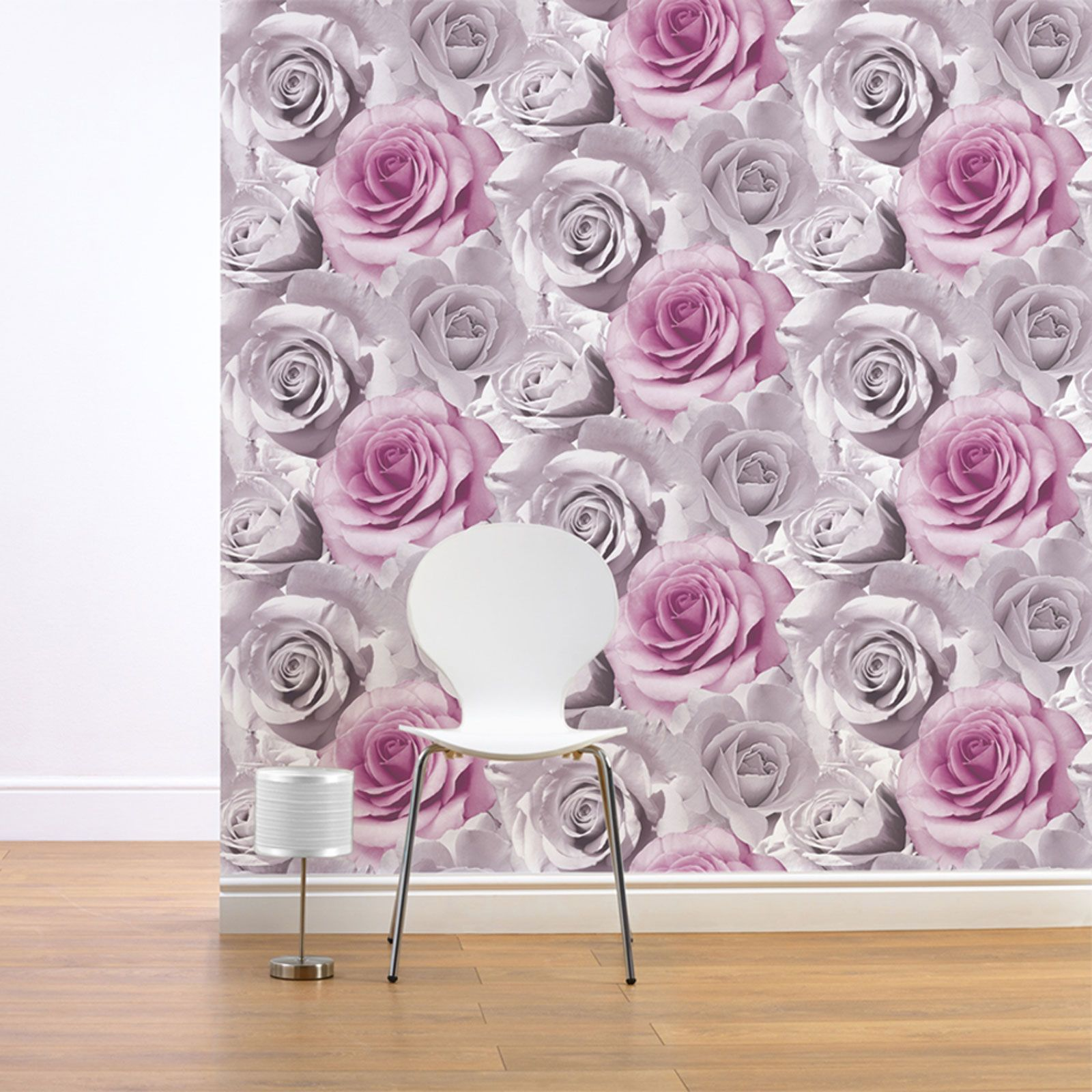 GIRLS CHIC WALLPAPER KIDS BEDROOM FEATURE WALL DECOR VARIOUS DESIGNS