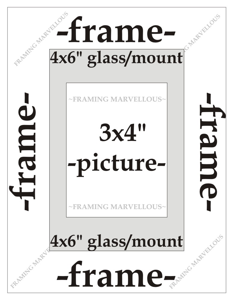 Brushed Gold Effect Photo Picture Frame with White Mount - Choose ...