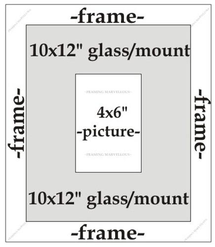 Metalique-Effet-Bronze-Cadre-Photo-Image-avec-Noir-Support-Taille-au-Choix