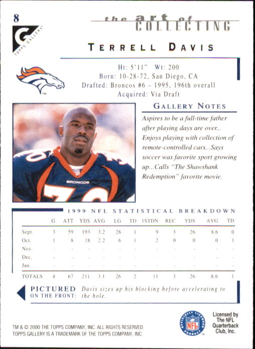 2000-Topps-Gallery-Football-Card-Pick thumbnail 17