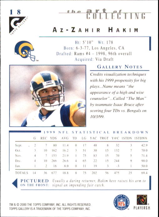 2000-Topps-Gallery-Football-Card-Pick thumbnail 35