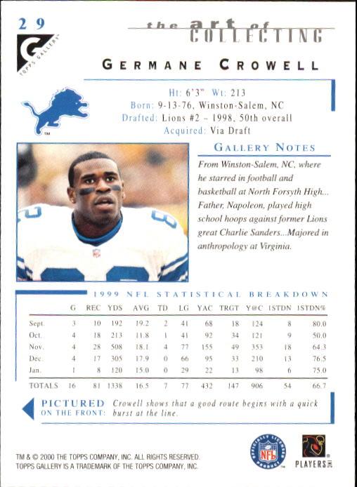 2000-Topps-Gallery-Football-Card-Pick thumbnail 55