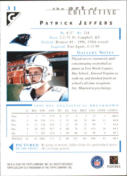 2000-Topps-Gallery-Football-Card-Pick thumbnail 59