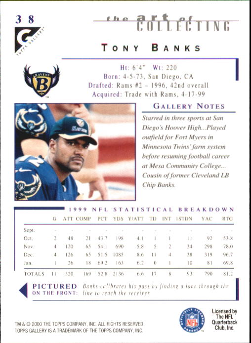 2000-Topps-Gallery-Football-Card-Pick thumbnail 73
