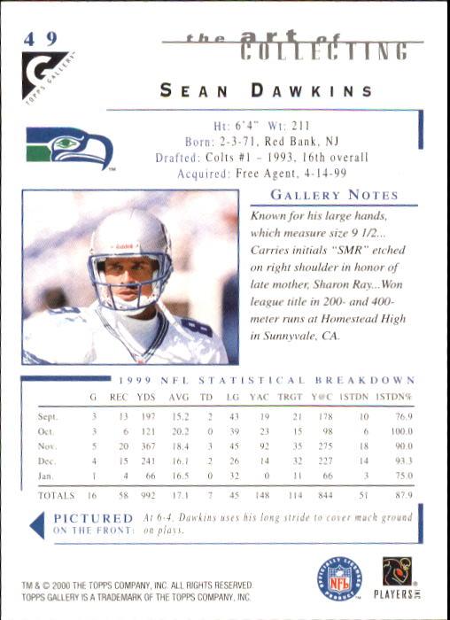 2000-Topps-Gallery-Football-Card-Pick thumbnail 95