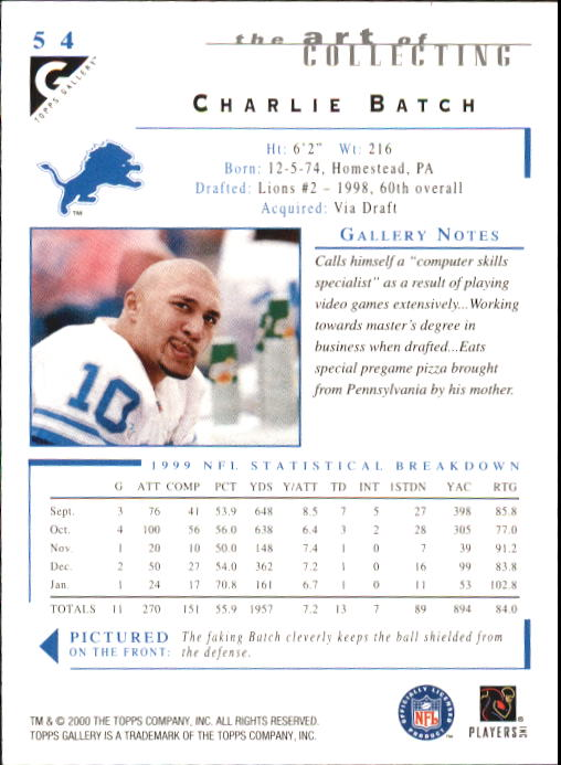 2000-Topps-Gallery-Football-Card-Pick thumbnail 105