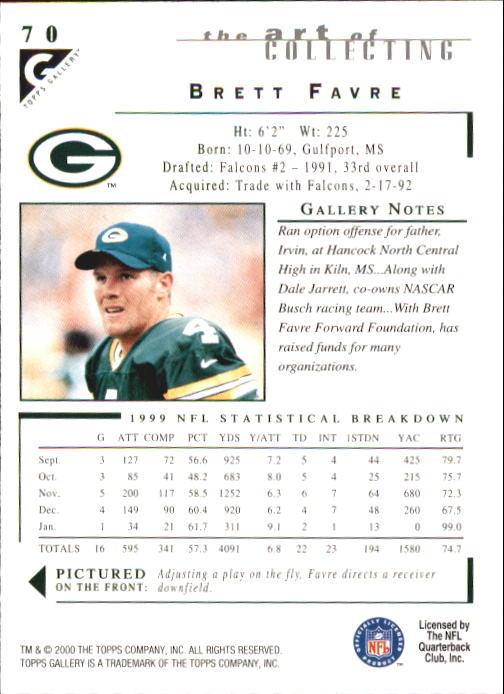 2000-Topps-Gallery-Football-Card-Pick thumbnail 137