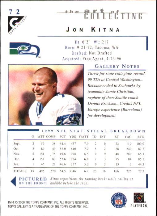2000-Topps-Gallery-Football-Card-Pick thumbnail 141
