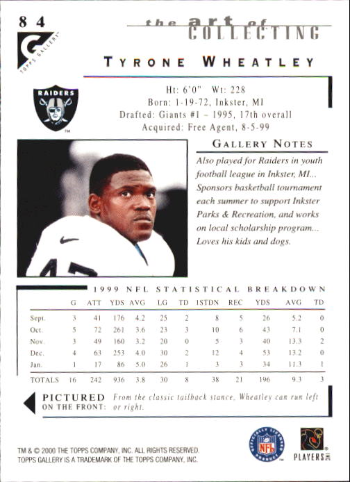 2000-Topps-Gallery-Football-Card-Pick thumbnail 163