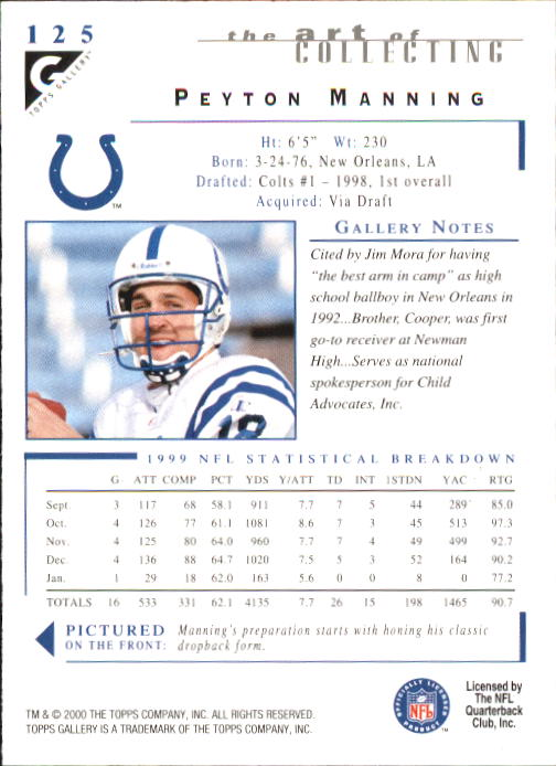 2000-Topps-Gallery-Football-Card-Pick thumbnail 245