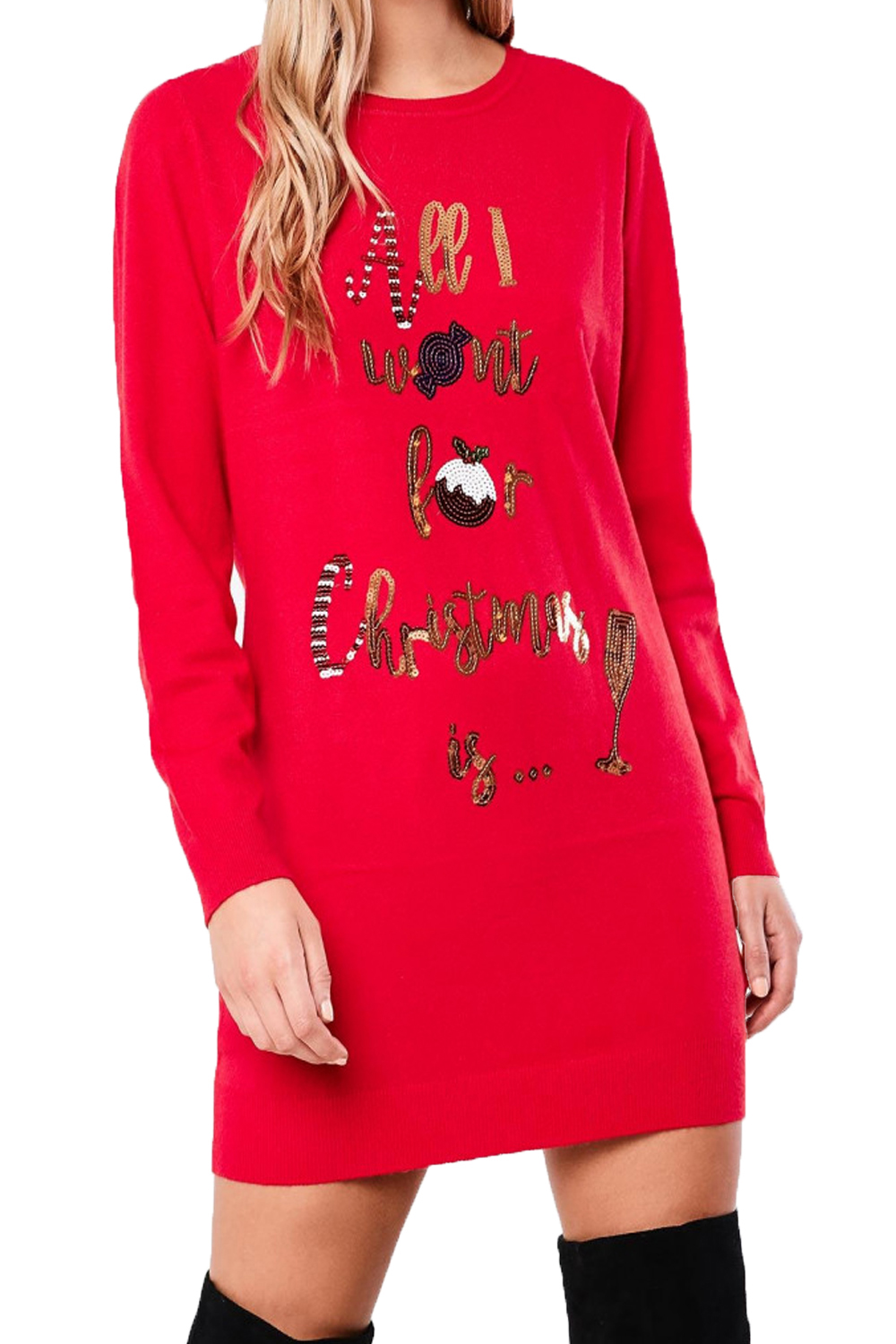 Heart-And-Soul-Womens-Sequin-Christmas-Tunic-Jumpers-Ladies-Novelty-Knitted-Tops thumbnail 8