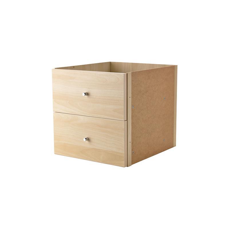 Ikea kallax shelf rack insert with 2 drawers in 3 colours - Ikea schubladen organizer ...